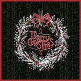 Blänka kransen för glad jul för den svart tavlan Royaltyfria Bilder