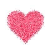 Blänka röd hjärta Arkivfoto