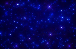 Blänka stjärnautrymmebakgrund Fotografering för Bildbyråer