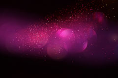 Blänka tappningljusbakgrund blått, silver, lilor och svart de-fokuserat Royaltyfri Foto