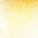 Blänka tappningljusbakgrund göra sammandrag bakgrundsguld defocused Royaltyfri Fotografi