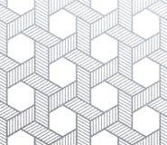 Blänker den geometrisk silver vävde sömlösa modellen för textilen med textur på vit bakgrund Vektorsilver som blänker lnitted orn vektor illustrationer