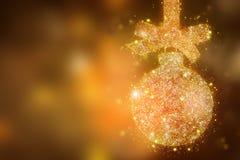 Blänker den magiska gnistrandet för jul struntsaken - xmas-bakgrund Arkivbild
