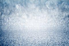 Blänker den skinande blåa diamanten för silver abstrakt bokeh, nätta utrymmen för lätt bruksskönhet som modern bakgrunddesign Royaltyfri Bild