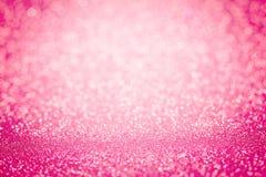 Blänker söt rosa bokehbelysning för abstrakt suddighet från textur Arkivbilder