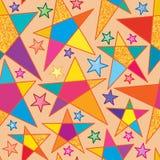 Blänker stor vattenfärgguld för stjärnan den sömlösa modellen stock illustrationer