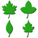 Blätter 3D Lizenzfreie Stockfotos