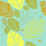 Blätter auf dem blauen Hintergrund stock abbildung