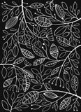 Blätter auf einem schwarzen Hintergrund Stockfoto