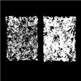 Blätter des alten zerknitterten Papiersatzes Stockfotos