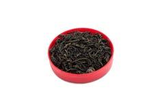 Blätter des schwarzen Tees Stockbild