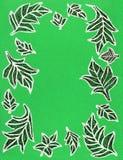Blätter einer Hand gezeichnete kopierte Platane Lizenzfreies Stockbild