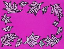 Blätter einer Hand gezeichnete kopierte Platane Lizenzfreie Stockfotografie