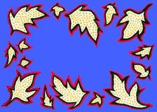 Blätter einer Hand gezeichnete kopierte Platane Stockfotos