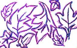 Blätter einer Hand gezeichnete Platane Lizenzfreie Stockfotos