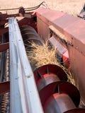 Blätter einer Weizenerntemaschine Stockbilder