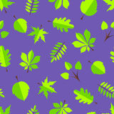 Blätter im flachen Design Lizenzfreie Stockbilder