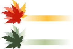 Blätter Logo Illustration Lizenzfreie Stockfotografie