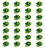 Blätter mit Buchstaben Lizenzfreie Stockfotos