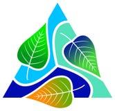 Blätter mit Dreieck stock abbildung