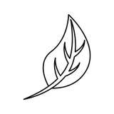 Blätter pflanzen lokalisierte Ikone stock abbildung