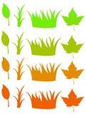 Blätter und ändernde Farbe des Grases Lizenzfreies Stockbild