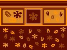 Blätter und Blumen lizenzfreie abbildung