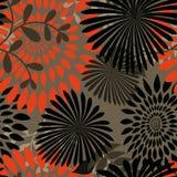 Blätter und Blumen-nahtloser Hintergrund Stockfotografie