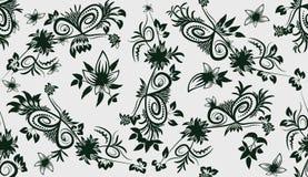 Blätter und Blumen-nahtloser Hintergrund Lizenzfreie Stockfotos