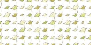 Blätter und Linien nahtloses Hintergrundmuster Stockfoto
