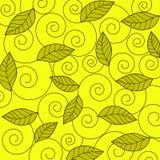 Blätter und Spiralen - Vektor Stockfoto