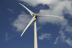 Blätter von windturbine Stockfotografie