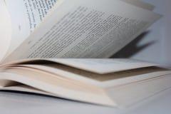 Blätterbildung durch ein Buch Stockfotos