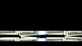 Blätternbargeldbauchbinde stock footage