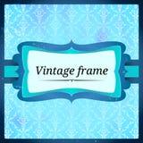 Blå åldrig frostig ram Arkivfoto