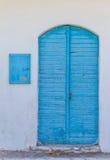 Blå ödörr Arkivfoto