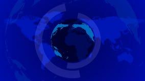 Blå ögla för nyheternajordbakgrund stock video