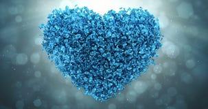 Blå ögla 4k för Rose Flower Petals In Lovely hjärtaShape bakgrund vektor illustrationer