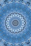 Blå östlig prydnad royaltyfri illustrationer