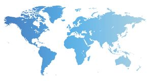 blå översiktsvärld vektor illustrationer