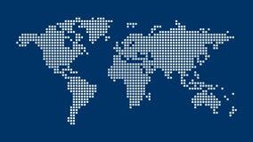 blå översiktsvärld för bakgrund vektor illustrationer