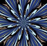 Blå abstrac för färgbristning Arkivfoto