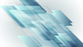 Blå abstrakt animering för high techformvideo stock video