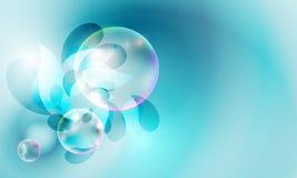 Blå abstrakt bakgrund stock illustrationer