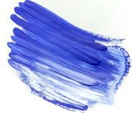 Blå abstrakt bakgrund av penseldrag Royaltyfria Foton