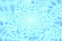 Blå abstrakt bakgrund, cirklar, lutning Arkivbilder