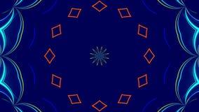 Blå abstrakt bakgrund, färgrikt ljus, ögla royaltyfri illustrationer