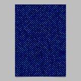 Blå abstrakt bakgrund för broschyr för prickmodell - vektormalldesign Arkivbilder