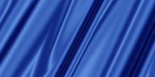 Blå abstrakt bakgrund med mjukt silke Arkivbilder