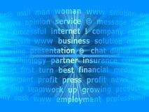 Blå abstrakt bakgrund med text Arkivfoton